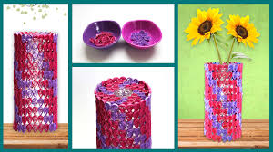 Flower Vase With Paper Dazzling Vase Sleeve Quill On
