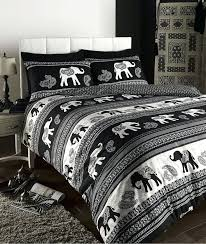 double bed duvet covers uk empire indian elephant animal print king bed duvet quilt cover bedding