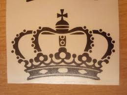 crown decals wall decals gold crown