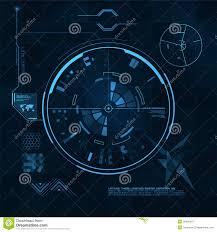 Futuristic Clock Hud And Gui Set Futuristic User Interface Royalty Free Stock