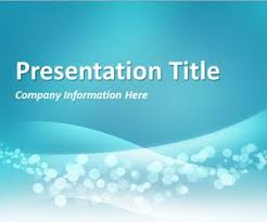 wave powerpoint templates wavy blue powerpoint template