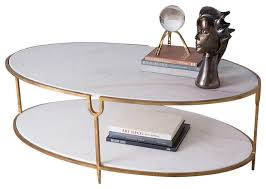 stone coffee table. Global Views Iron And Stone Oval Coffee Table