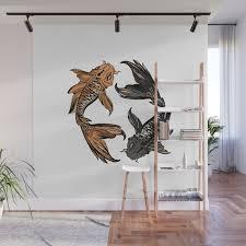 koi fish wall mural by valentinadesign