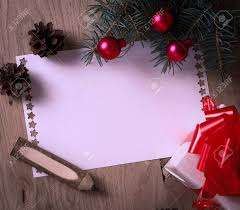 Blank Christmas Background Blank Christmas Card And A Box With Gift On Christmas Background