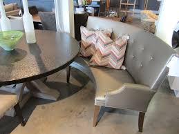 elegant curved banquette bench with banquette seating with round table and leather corner bench seating