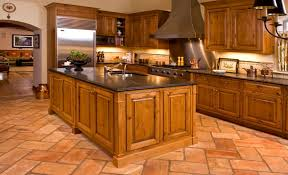 knotty alder wood kitchen cabinets