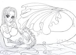 Pretty Witch Mermaid Coloring Pages Yahoo