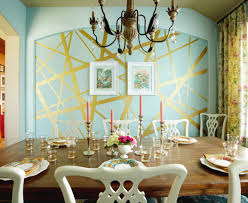 Brilliant Dining Room Paint Ideas With Accent Wall 2 Goldleafedwallpaintdiningroom Inside Design Inspiration