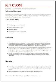 Gallery Of Cv Sample For Teenagers Myperfectcv Example Of A Resume