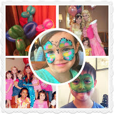 anna elsa ariel mermaid sleeping beauty cinderella pretty face painting balloons birthday party nyc balloonist face