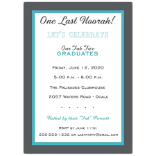 Graduation Dinner Invitations Choose Your Color Joint Graduation Party Invitations