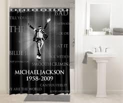 12285 Michael Jackson 1958-2009 #1175 Shower Curtain Waterproof Bathroom Decor