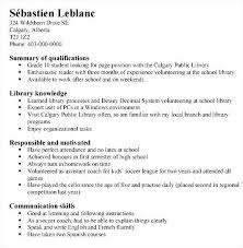 Example Of Functional Resume For A Student Examples Of Resumes