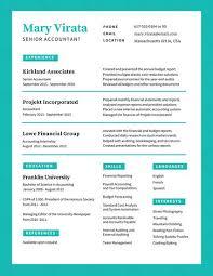 Turquoise Simple Corporate Resume