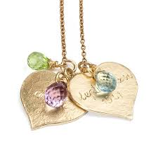 personalised 9ct yellow gold heart necklace