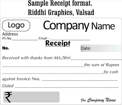 Format Of Receipt Receipt Payment Format Complete Guide Example 4