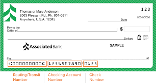 ociated bank routing number