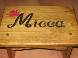 Wood Carving Dremel Engraved A Stepstool By Making A Stencil And Carving Out The