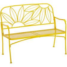 Image Interior Walmart Mainstays Hello Sunny Outdoor Patio Bench Yellow Walmartcom
