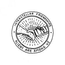 Vektorová Grafika Prostor Logo Setkání S Cizincem Nebo Mimozemských