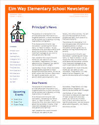 School Newsletter Template For Word 5 School Newsletter Templates Doc Pdf Free Premium Templates