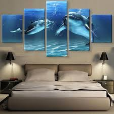 5 panels canvas prints hd dolphin canvas fashion 5 pieces wall art painting home decor art on dolphin canvas wall art with 5 panels canvas prints hd dolphin canvas fashion 5 pieces wall art