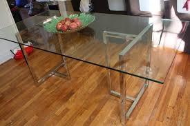 CB2 Silverado Rectangular Glass Table
