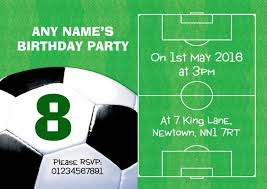 Soccer Party Invitations Football Pitch Ball Soccer Birthday Children S Party Invitations