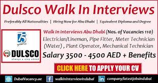 Industrial Electrician Salary Dulsco Jobs 2019 Latest Walk In Interviews In Dulsco Hr