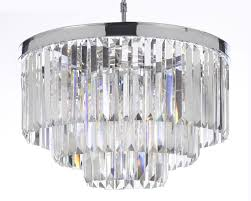odeon empress crystal tm glass fringe 3 tier chandelier intended for recent 3 tier