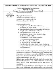 Tata ibadah natal spp/r gke hosianna palangkaraya tahun 2013 gke hosianna jalan iskandar nomor 02. Doc Teks Mc Majlis Perasmian Hari Orientasi Murid Tahun 1 Sktm Amar Safwan Academia Edu