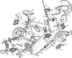 Raleigh bicycle exploded drawings and parts lists 1977