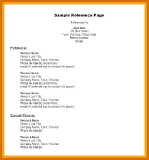 Resume Reference List Sample References List Resume Format With ...