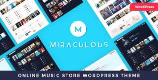 Themes range from dancing, and online radio to performing a musical. Miraculous V1 0 4 Online Music Store Wordpress Theme