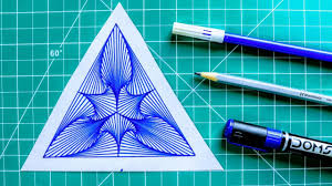 How To Draw Single Pattern Design How To Draw Single Pattern Design Geometri Design 1 Rainbow Art