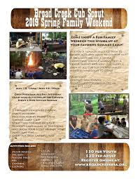 Bsa Registration Fee Chart 2019 2019 Cub Scout Spring Family Weekend