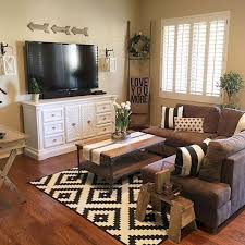 brown and black living room ideas. Stunning 50 Shabby Chic Farmhouse Living Room Decor Ideas Brown And Black