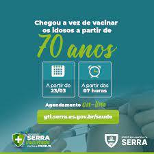 Prefeitura da Serra - AGENDAMENTO ENCERRADO. Todas as 1530 vagas foram  preenchidas em cerca de 15 minutos. ---------------------- O link para o  agendamento on-line 💻📱 👇 http://gti.serra.es.gov.br/saude/ . Estamos  abrindo 1.530 vagas