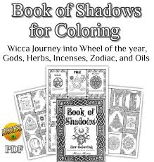 wicca coloring books for s book of shadows for coloring pages