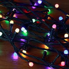 Colored String Lights Novolink 50 Ft 200 Light Mini Globe Multi Color Low Voltage Led String Light