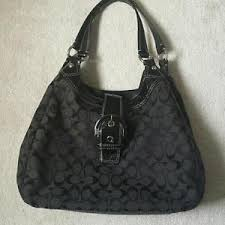 COACH SIGNATURE DOUBLE STRAP SHOULDER HOBO BAG F17403