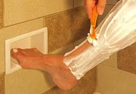 post corner shower foot rest shaving chrome target