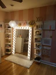Bedroom Mirrors With Lights Around Them Images Vanity Mirror Light Bulbs  For Ikea Makeup Set Lighted Led Mirrored Including Fabulous Bathroom 2018