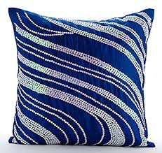royal blue decorative pillows. Interesting Decorative The HomeCentric Handmade Royal Blue Decorative Pillows Cover Sequins  Swirls Sparkly Pillow With R