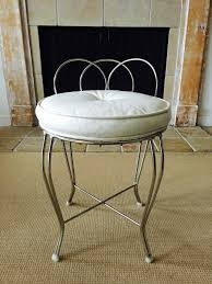 chrome vanity bench. Wonderful Chrome Hollywood Regency Style Chrome Vanity Stool By George Koch Sons Inc To Bench