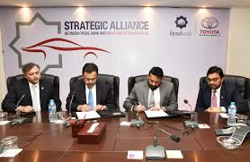 faysal bank indus motor enter into strategic alliance profit by stan today