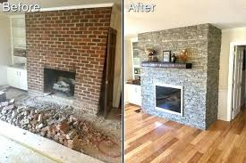 cost to put in a fireplace resurface a brick fireplace cost to reface with stone veneer