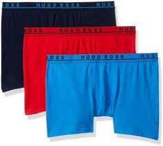 Hugo Boss Swim Shorts Size Chart Hugo Boss Boss Mens Boxer Brief 3p Co El Medium Blue Navy