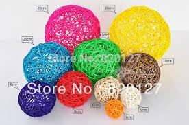 Decorative Vase Filler Balls Size100CM Handmade Rattan Wicker Balls Vase Filler Table Scatter 33