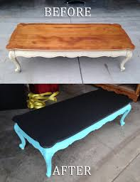 Chalkboard painted coffe table